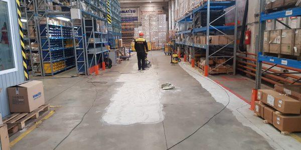 Ремонт промышленного бетонного пола, 200 м2, 5 дней