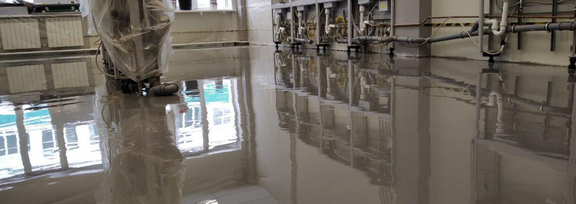Химически стойкий полимерный пол для лаборатории, 65 м2, 7 дней