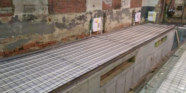Теплый пол и ямы для Авторемонтного центра. 450 м2, 21 день