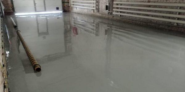 Усиленый промышленный эпоксидный наливной пол. 411м2